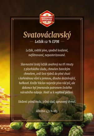 Pivní premiéra - SVATOVÁCLAVSKÝ LEŽÁK 12% EPM