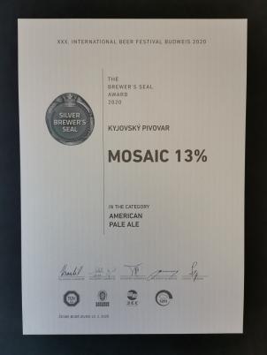 Ocenění kvality kyjovského piva