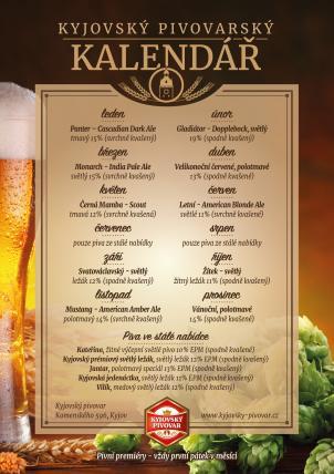Pivní kalendář na rok 2019